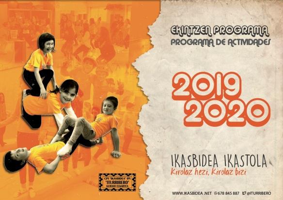 ESKOLAZ KANPOKO EKINTZAK 2019-2020. FOLLETO PORTADA